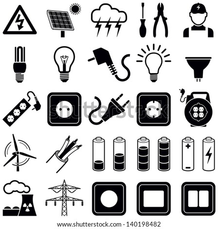 electricity icon collection