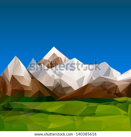 mountainous terrain  polygonal