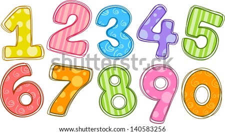 Colorful Numbers Clip Art Free Vector 4vector