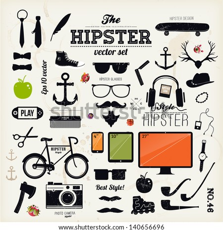 hipster style infographics