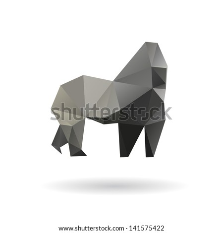 gorilla isolated on a white