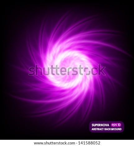 supernova in space  abstract