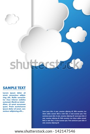 cloud sky background  abstract
