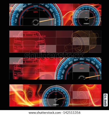abstract design of speedometer