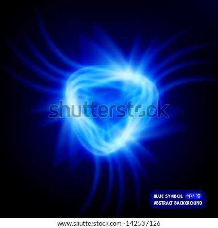 blue symbol  abstract background