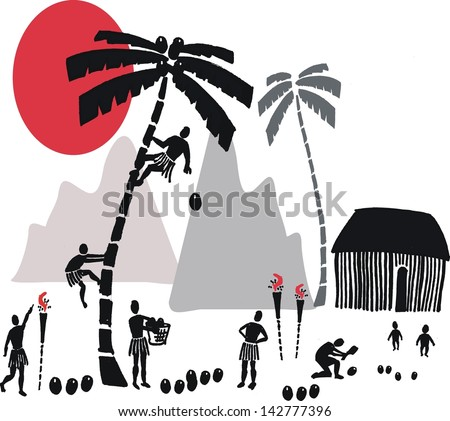 vector illustration of island