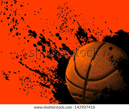 basketball grunge background