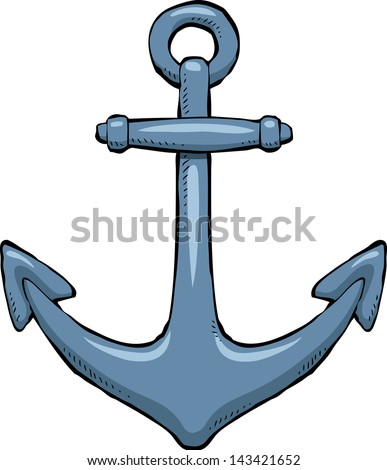 anchor on a white background