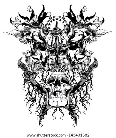 warrior skull
