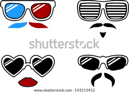 vector sunglasses characters