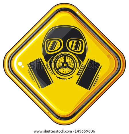 Gas Mask Signs Gas Mask Hazardous Sign Gas