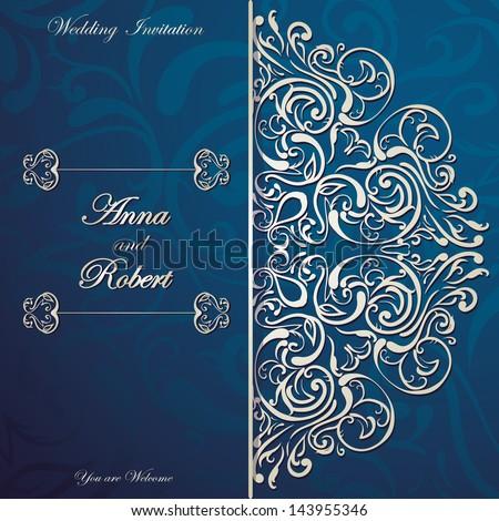 stylish invitation card with