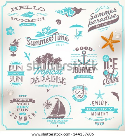 vector set of travel and