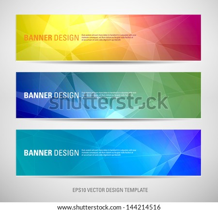 stock-vector-a-set-of-modern-vector-banners-with-polygonal-background