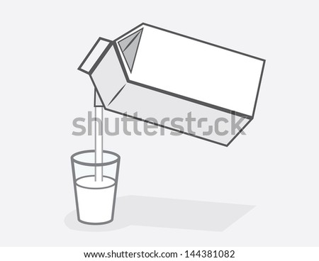 milk carton pouring into glass