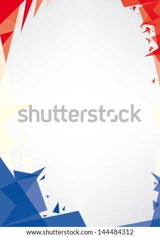 background origami of france a