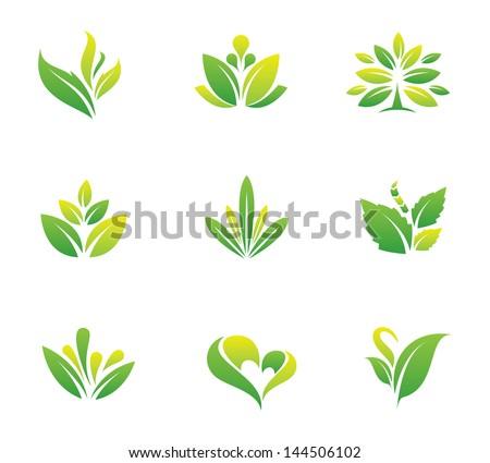 green nature social logo and