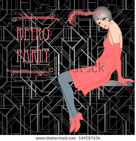 flapper girl  retro party