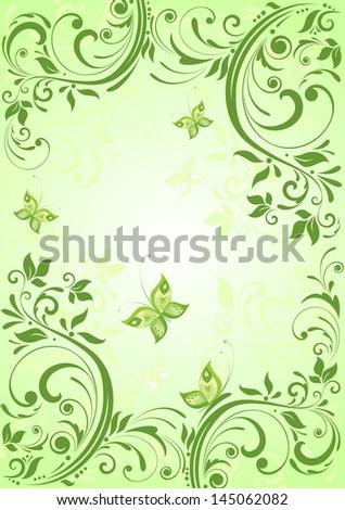 spring vintage banner raster