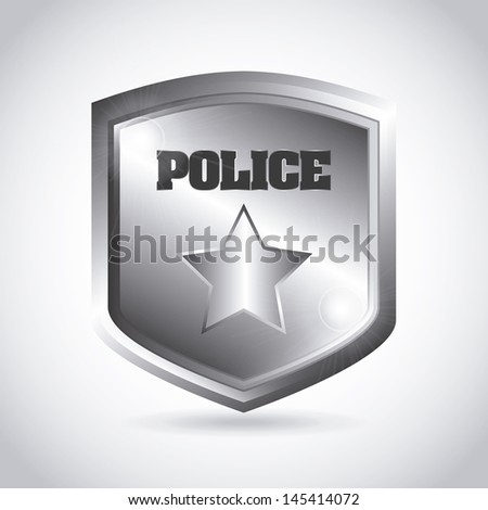 police plate over gray