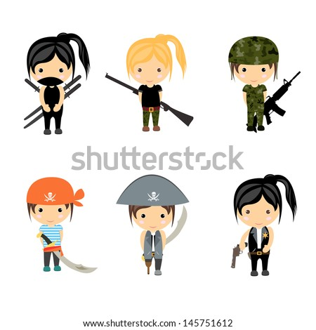 woman character set   vector