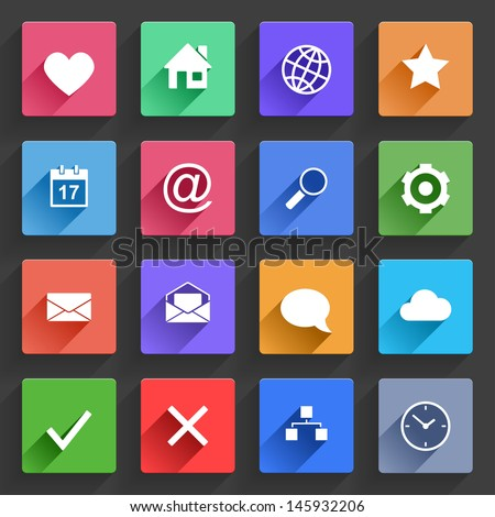 vector application  web icons