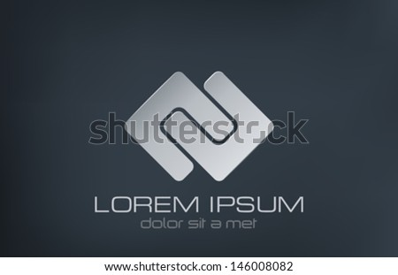 abstract vector logo design