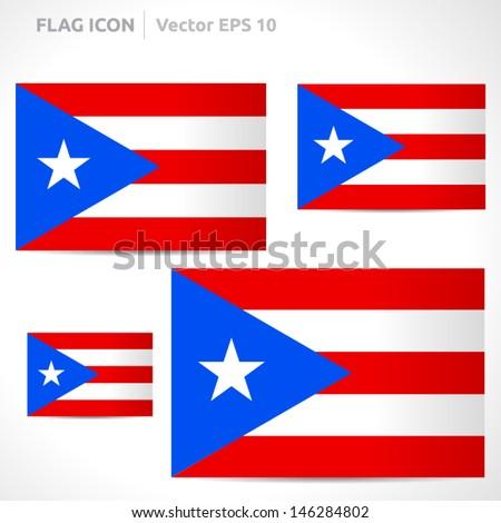 puerto rico flag template