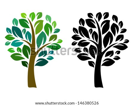vector tree  isolated on white