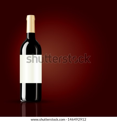 bottle of wine on red