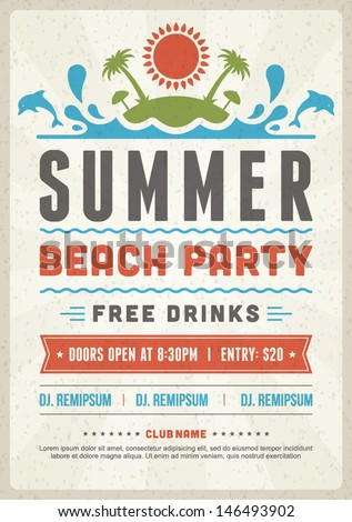 retro summer party design