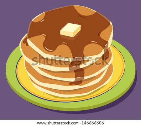 stack of pancakes on a plate