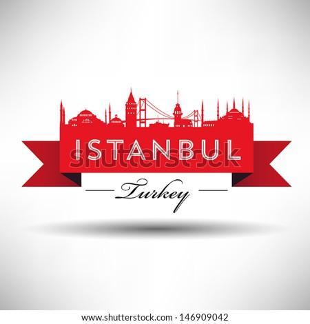 istanbul silhoutte ribbon design