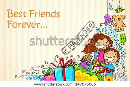 illustration of friendship day