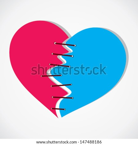 breaking heart join vector