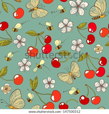 summer vector seamless pattern