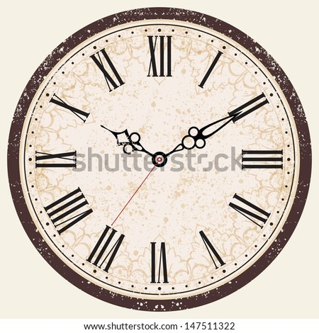 vector old vintage clock