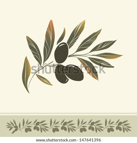 vector decorative olive branch