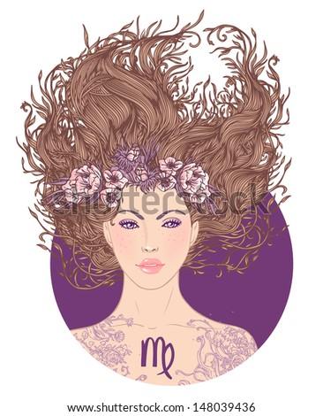 illustration of virgo