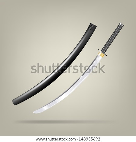japanese sword vector