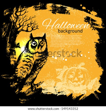 halloween background hand
