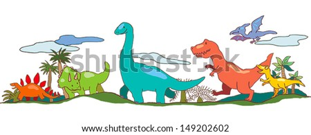 dinosaur world in children