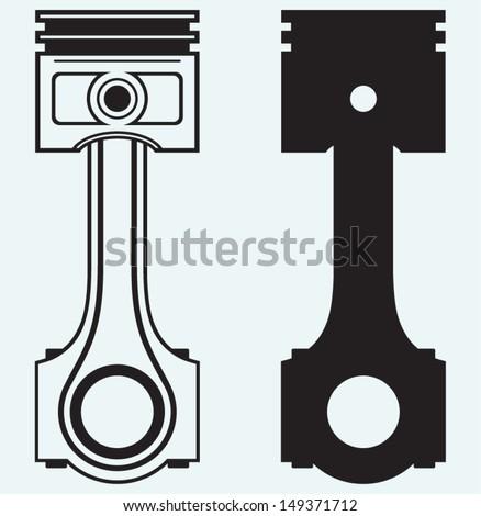single engine piston isolated
