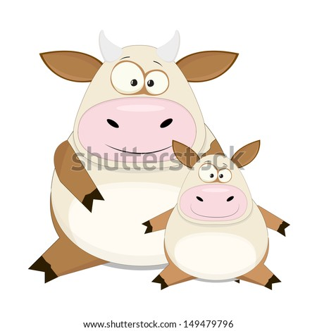 nice vector cartoon cow with