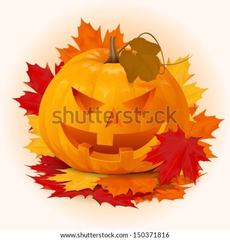 scary smile halloween pumpkin