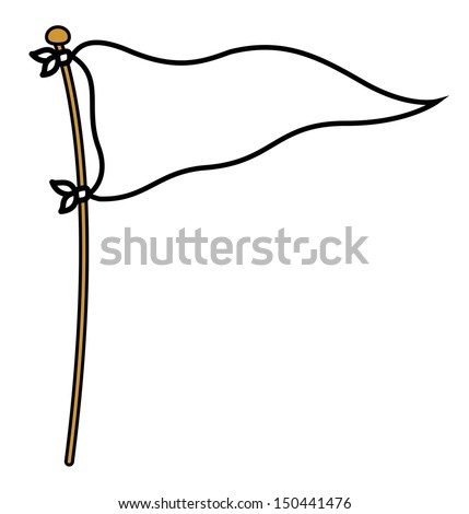 peace flag   cartoon vector