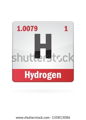 hydrogen symbol illustration