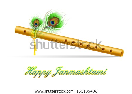 illustration of bansuri with