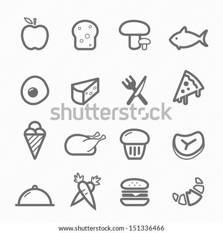 food symbol line icon on white