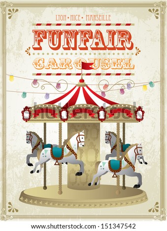 vintage carousel template